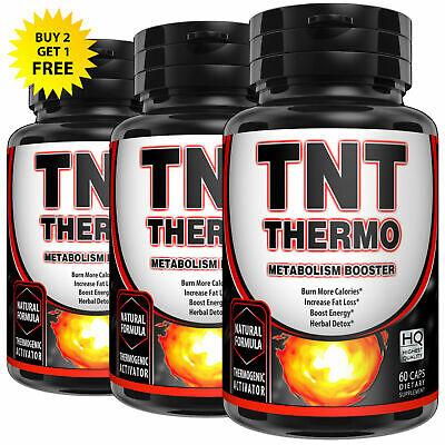 TNT THERMO Metabolism Booster WEIGHT LOSS DIET 60 PILLS KETO FAT BURNER
