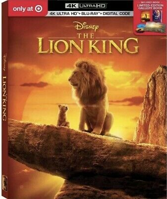 The Lion King (2019) Live Action Target Exclusive 4k HD+Blu-ray+Digital+Book!!
