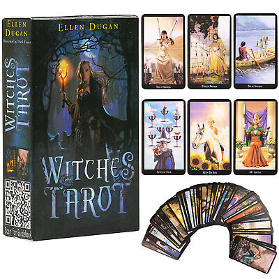 78 Cards Witches Tarot Deck Future Fate Indicator Forecasting Cards Table Game