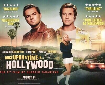 ONCE UPON A TIME IN HOLLYWOOD (MAIN) Original UK Cinema Quad. Quentin Tarantino
