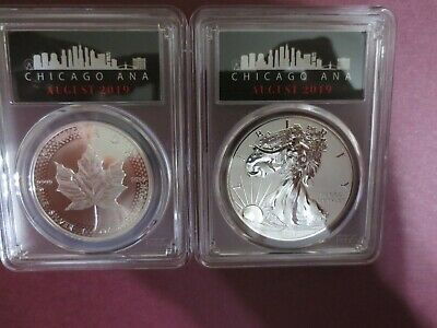 2019 Pride of Two Nation PCGS PR70 Royal Canadian MINT TWO COINS FROM THE ANA.