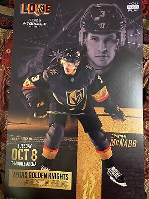 Vegas Golden Knights Brayden Mcnabb Poster Program Knights Vs Bruins 10/8/19