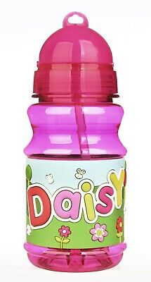 Personalised Name /'ABIGAIL/' Handy Flip Top Water Bottle Flask Cup Pop Out Straw