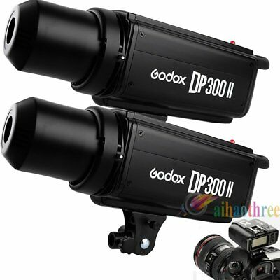 2Pcs Godox DP300II 300W 2.4G Wireless Bowens Mount Flash Strobe + X1T Trigger