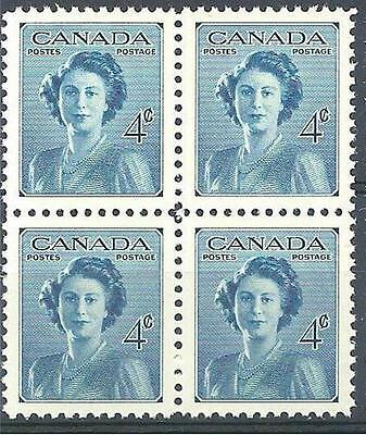 Canada 1948 Sc# 276 set Princess Elizabeth block 4 MNH