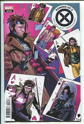 Powers Of X #5 - Valerio Schiti Character Decades (Gambit) Variant Cover - 2019