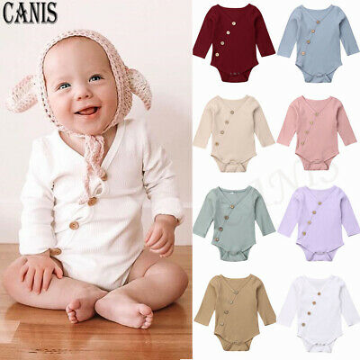 Newborn Infant Baby Boy Girls Clothes Romper Cotton Bodysuit Jumpsuit Outfit New
