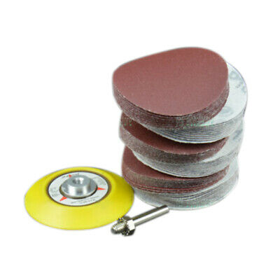 3 Inch 75mm Sandpaper Disc Hook And Loop Sanding Sander Shank Backing Pad