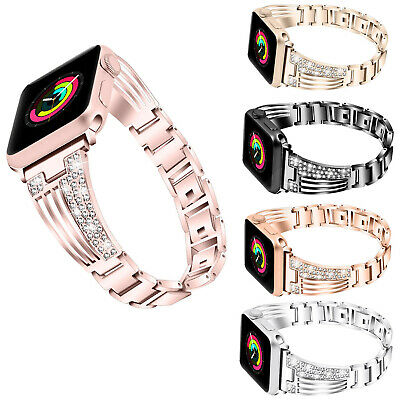 US For Apple Watch Series 5 4 3 2 38/42MM Women Bling Bracelet iWatch Band Strap