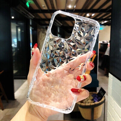 For Apple iPhone 11 Pro Max XR Xs 7 8 Plus 6S Bling Cover Crystal Rubber Case