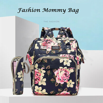 Mummy Maternity Nappy Diaper Bag Waterproof Large Baby Changing Nursing Backpack