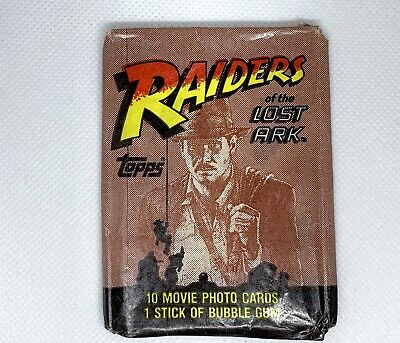 Raiders Of The Lost Ark Trading Cards 1981 - Packet Only - No Cards Or Gum