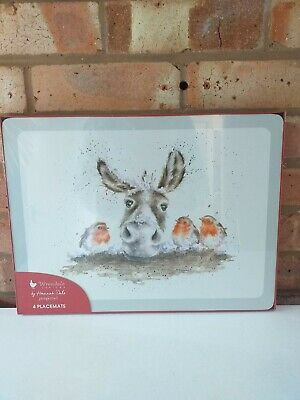Royal Worcester Wrendale Set of Four Different Christmas Placemats - New Boxed