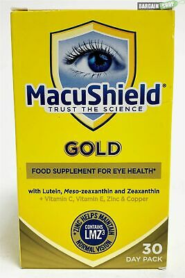 ***NEW MacuShield Gold Food Supplement Eye Health Care 90 Capsules 30 Days