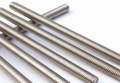 Allthread Threaded Rod Bar Studding Metric Zinc Mild Steel