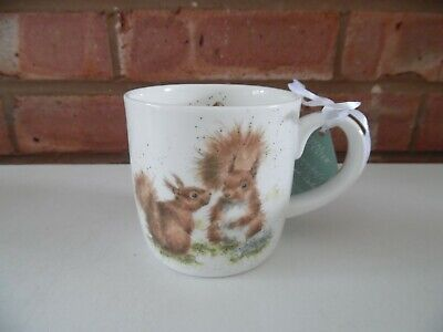 Royal Worcester Wrendale Red Squirrel Mug - Between Friends - New