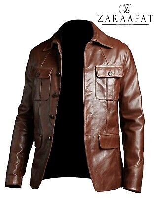 Men's Blazer Coat Jacket Sheepskin Leather 100% Genuine Leather by Zaraafat
