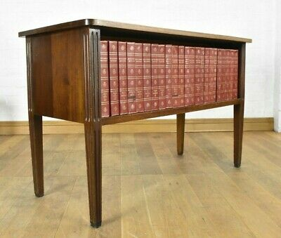 Antique mahogany library table - double sided bookcase - console table