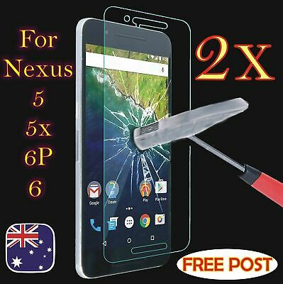 2X Scratch Resist Tempered Glass Screen Protector for LG Google Nexus 5X 5 6 6p.