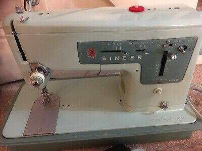 Vintage Mint Green Singer Model 337 Sewing Machine For Parts Or Repair.