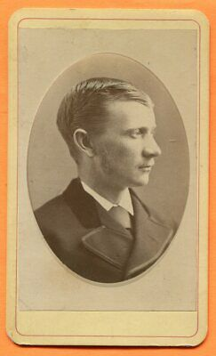 CDV Ithaca, NY, Portrait of a Young Man, by Tolles, circa 1870s Backstamp