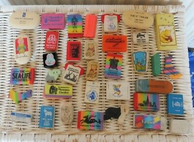 Collection of 36 Vintage Erasers - c1988-1995