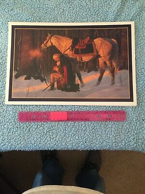 The Prayer at Valley Forge Arnold Friberg George Washington Print 10 x 15 inch