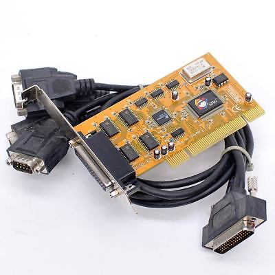 SIIG P030-62 RS-232 Serial Adapter PCI Interface Card + 4 Port Breakout Cable