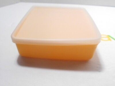 Vintage Tupperware Square-A-Way Sandwich Keeper Yellow #670-31&Lid Sheer #671-30