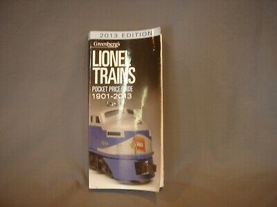Greenberg's Pocket Price Guide For Lionel Trains.