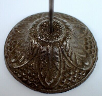 ORNATE Antique Vtg Cast Iron Bill Receipt Letter Paper Spike Desk Countertop