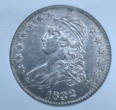 1832 CAPPED BUST HALF DOLLAR O-115 AU53 Small Letters