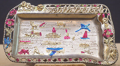 Souvenir Metal Ashtray of South Dakota - 1950s vintage