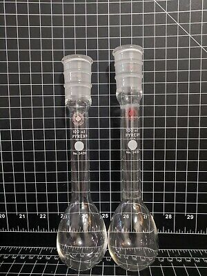Ace Glass 24/40 Kjeldahl Flasks 100ml 6967-21 PYREX 5420 Lab Glass distillation
