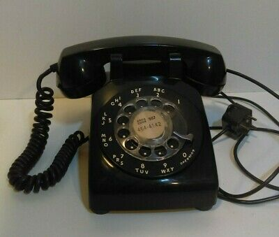 Vintage Western Electric Bell Rotary Dial 500 L/M Telephone  Black  Not tested