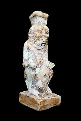 Rare Bes God Statue Egyptian Antique Icon Of Sex Faience Stone Sculpture 654 BC