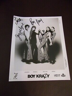 1993 Boy Krazy Autographed Publicity Photo 8 x 10