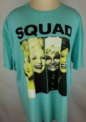 The Golden Girls Squad T Shirt 2XL (50/52) Teal Short Sleeve Cotton New