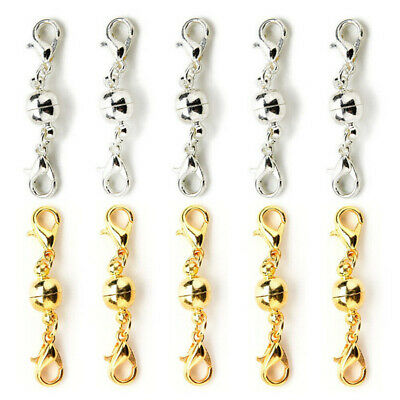 10pcs Magnetic Lobster Clasps Connector For Necklace Jewelry  Secure Extender