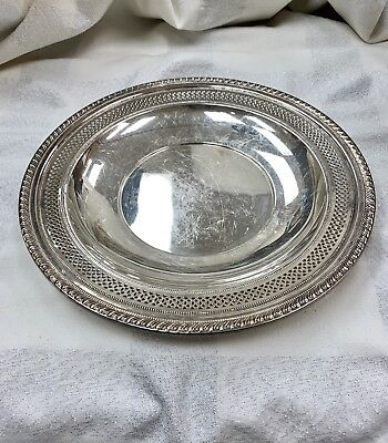 """Sterling Sliver 9 3/4""""inch Plate Tray Sign Old Dominion Dog #2854 243 gr."""