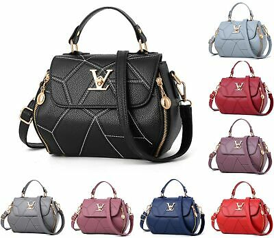 Ladies Women Designer Checkered Tote Bag Leather Style Quality Shoulder Handbag