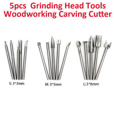 1x Woodworking Electric Wood Carving Hand Tool Chisel Rotary Drill Grinding Head