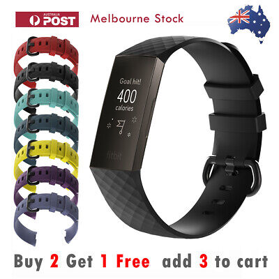Fitbit Charge 3 Band Replacement Silicone Watch Strap Wristband Sports Bracelet