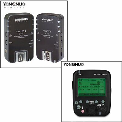 YONGNUO YN560-TX PRO Wireless Flash Transmitter+2PCS YN622C II Trigger for Canon