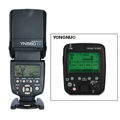 YONGNUO YN560-TX PRO Wireless Flash Transmitter + YN560IV Speedlite for Canon