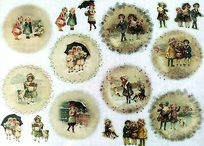 Rice Paper for Decoupage, Scrapbooking, Sheet Craft Vintage Christmas Playtime