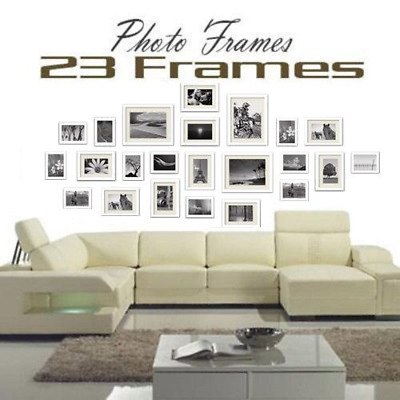 23pcs Large Multi Photo Frames Collage Family Picture Frame Wall Set Home Décor