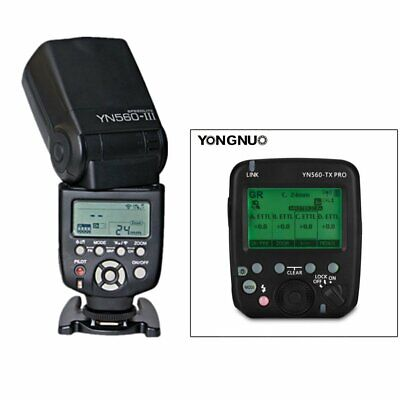 YONGNUO YN560-TX PRO Wireless Flash Transmitter + YN560III Speedlite for Canon
