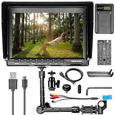"Neewer NW759 7"" HD Camera Monitor Kit with Magic Arm,USB Charger,Battery"