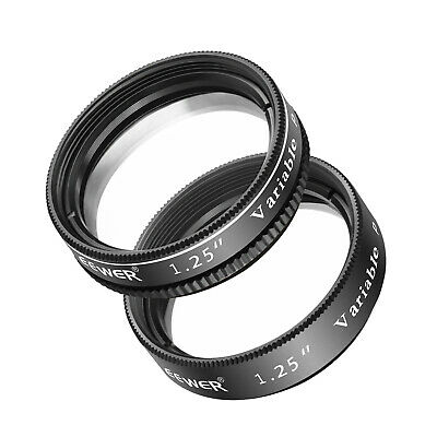 Neewer 1.25 inches 2 Pieces Variable Circular Polarizer CPL Lens Filter